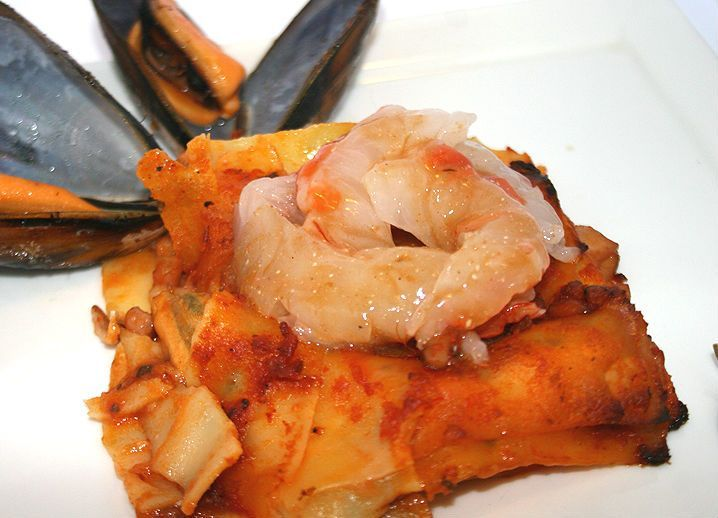 A variant that smells of the #sea that we find in this #recipe typical of the #Liguria #Italy!  #Lasagna with seafood