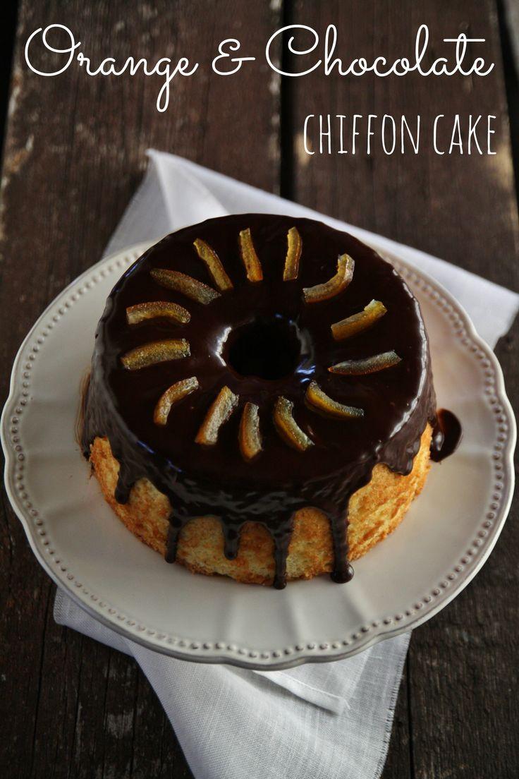 orange and chocolate chiffon cake
