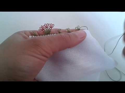 Kirpikli İğne Oyası Yapılışı #1 HD Kalite - YouTube