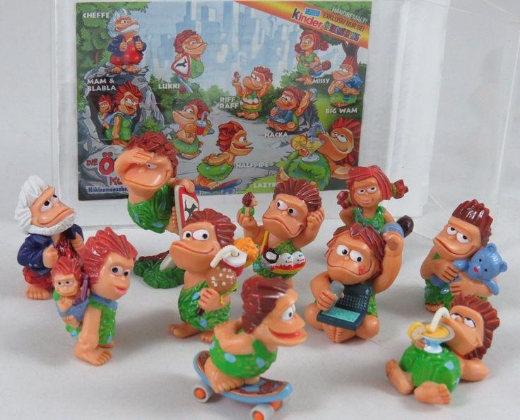 "Kinder Surprise Ferrero Toy Egg Figures ""Cavemen"" Full Set 10 Pcs Germany 2003"