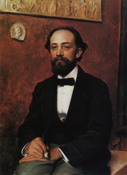 Portrait of sculptor Walter Runeberg (1879) by Gunnar Fredrik Berndtson (1854-1895)