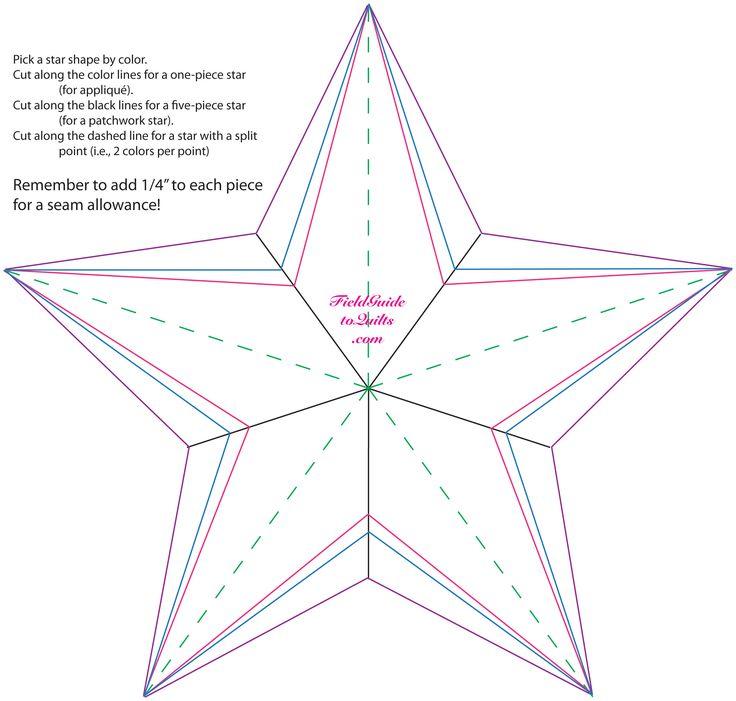 Free Star Quilting Stencils : Best 25+ Star template ideas on Pinterest