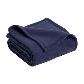 Vellux By Westpoint Home Micro Mink Navy 108-In L X 90-In W Polyester Blanket 1B06288