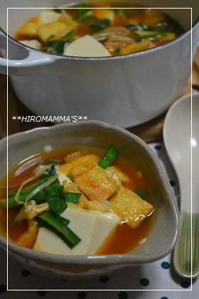 豆腐のチゲ鍋スープ