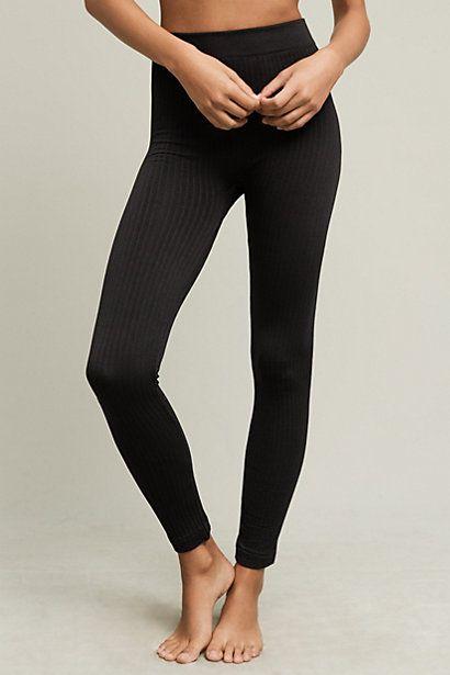 Fleece-Lined Cabeled Leggings #anthropologie