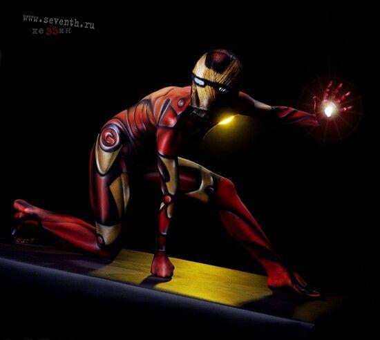 IronMan body paint by Kezzyn~