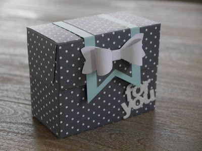 Ein neues Böxli - gewerkelt mit dem neuen Stampin' UP! Stanz- und Falzbrett für Geschenktüten samt Video- und Kurzanleitung auf claudisbastelblog.blogspot.de