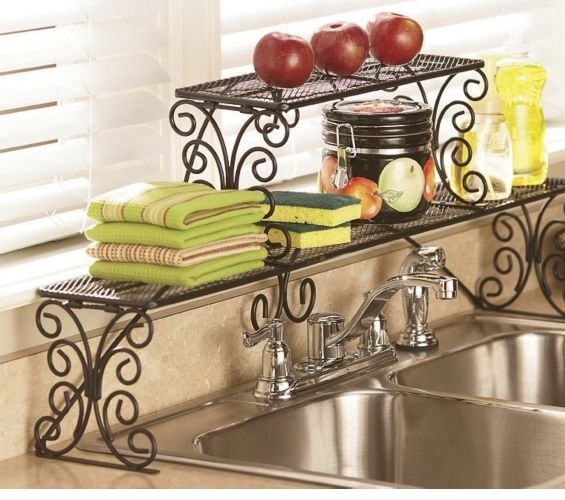 2-Tier Scrolled Over-the-Sink Shelf  $34.95