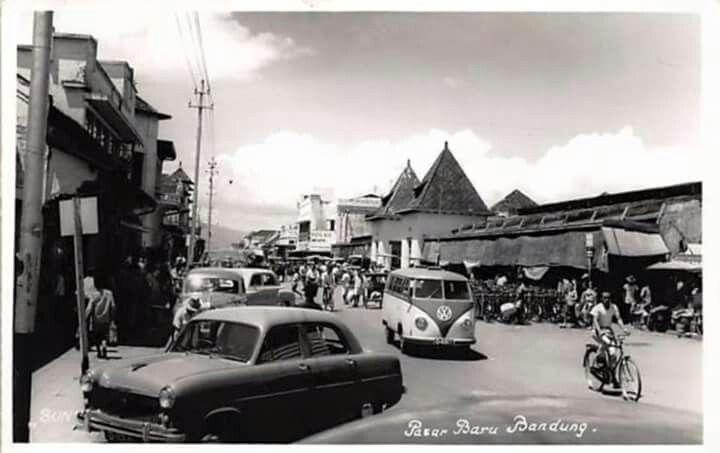 Pasar Baru, Bandung 1950an