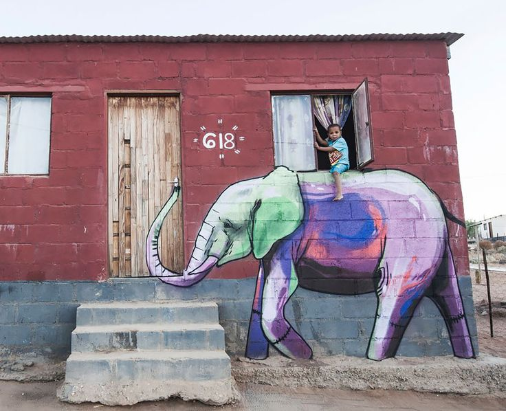 Elephant Street Art In South African Villages To Give People Hope (11+ Pics) | Bored Panda