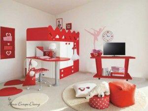 8 Desain Interior Nuansa Merah yang Romantis - Type Rumah Minimalis