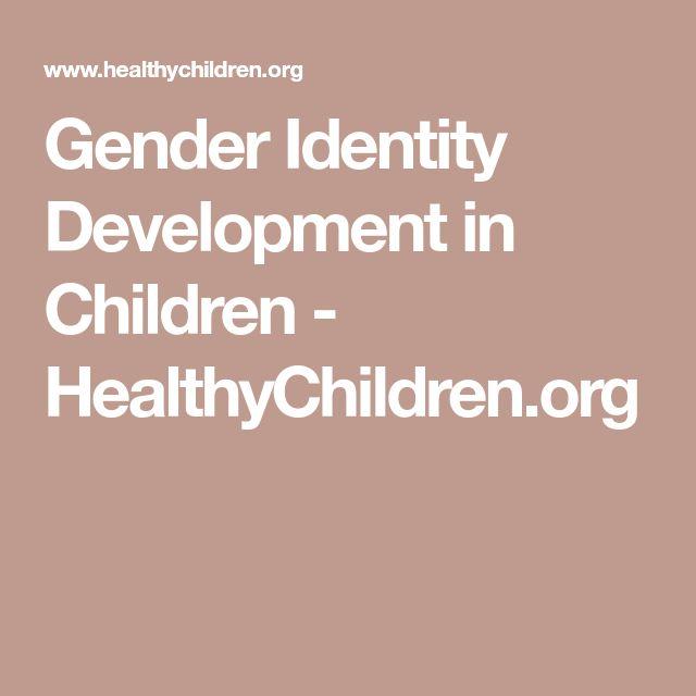 Gender Identity Development in Children - HealthyChildren.org