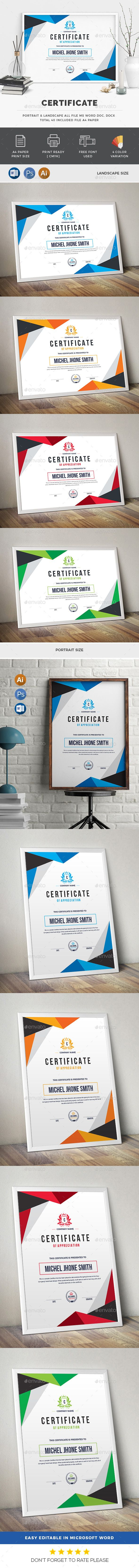 #Certificate - Certificates #Stationery Download here: https://graphicriver.net/item/certificate/20233891?ref=alena994