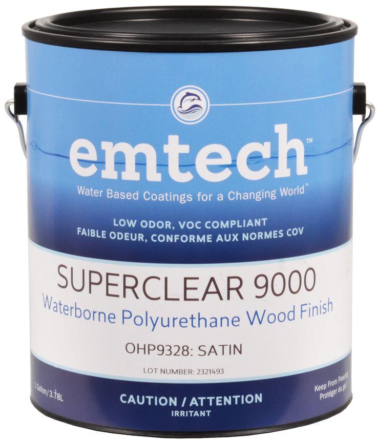 Le Vernis Polyuréthane SuperClear 9000 à base d'eau est une formule d'uréthane copolymère unique qui sèche en un revêtement très dur, transparent, et qui ne jaunit pas. Il est parfait pour une utilisation sur des teintures de couleur naturelles, terreuse