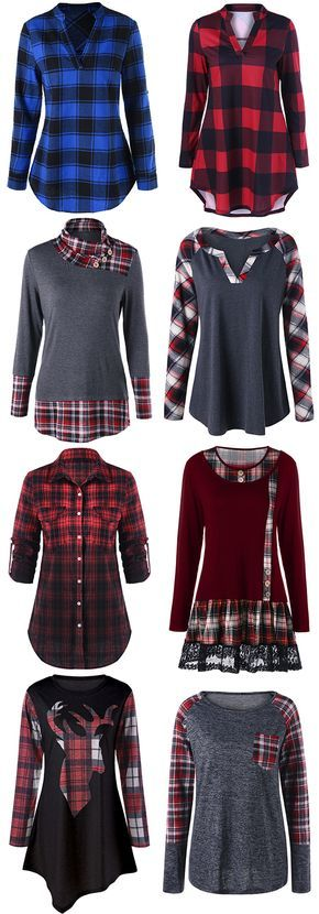 50% OFF Plaid T shirt,Free Shipping Worldwide.