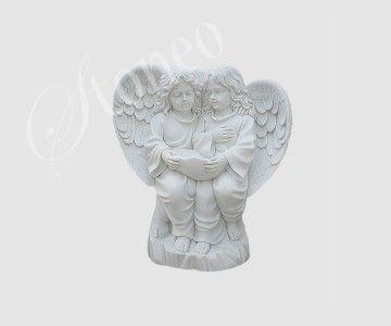 Para aniołków - rzeźba z kamienia