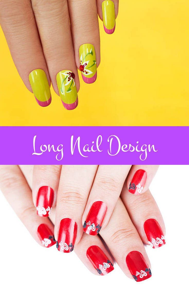 Long Nail Design You Don T Need To Be A Skilled Manicurist Create Awesome Designs With Some Exercise The Correct Tools And Step By