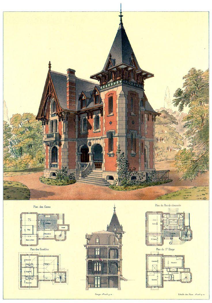 Manor House Drawing: 「古い洋館・間取り図」のおすすめ画像 78 件