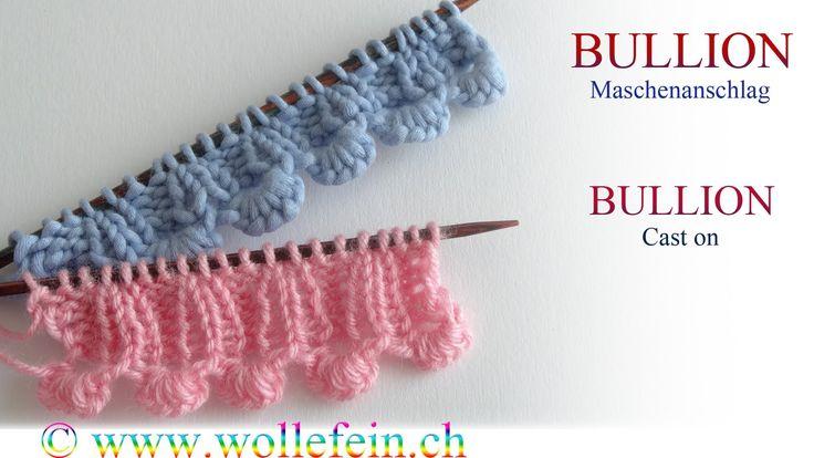 Shell Cast on - Muschelanschlag - Bullion Maschenanschlag ........... SO clever!!
