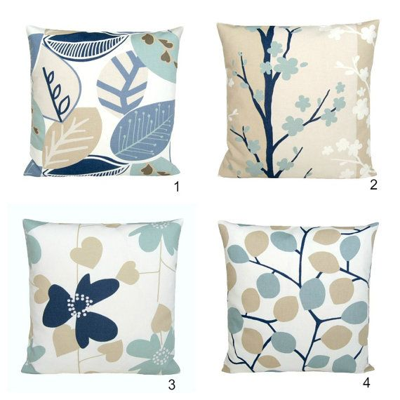 Duck Egg Blue Cushion Cover 18x18 Pillow Cover by CoupleHome, $18.50