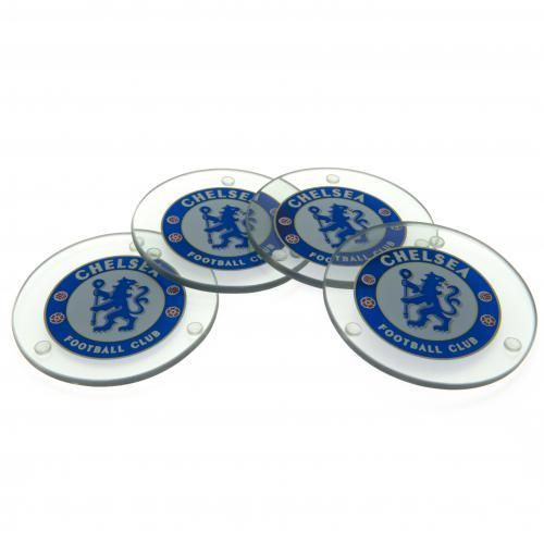 Chelsea FC Glass Coasters - Set of 4