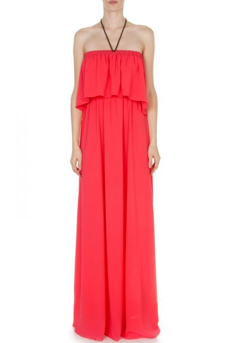 #despinavandicollection Maxi ruffled frame dress