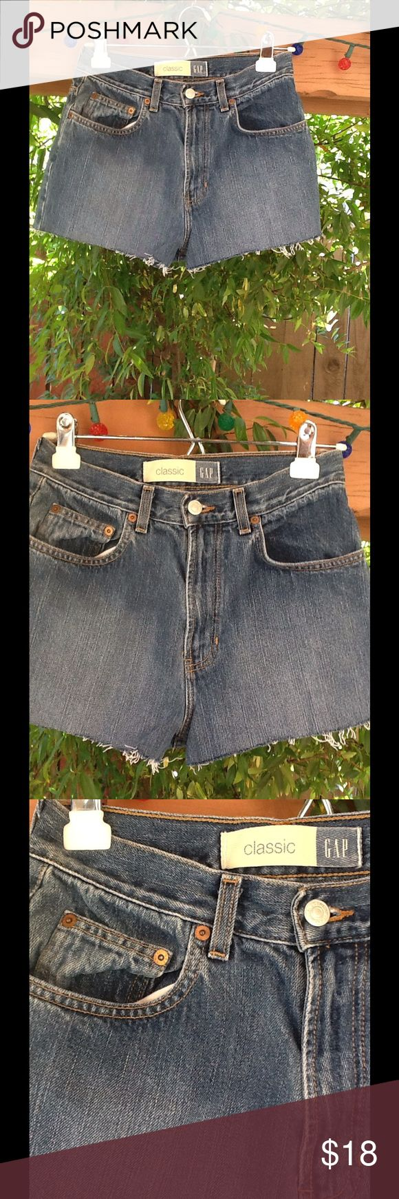 GAP cutoff Jean Shorts High Waist Size 7 8 Medium High Waist GAP shorts. (4) Gap Shorts Jean Shorts