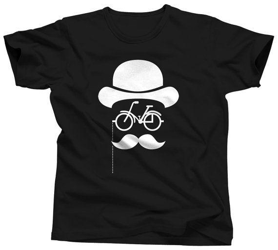 Bicycle Tshirt Funny Bike Shirt Mens Biker T-Shirt Cycling