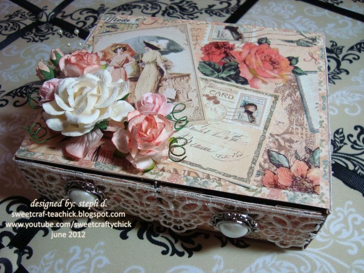 Beautiful upcycled drawers by Steph D. using A Ladies' Diary! So beautiful! #graphic45