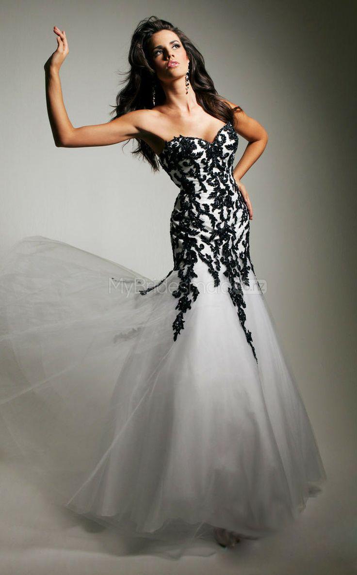 Tulle Mermaid Sweetheart Sweep Train White Ball Dresses(JT746)