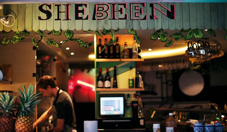 The non-profit Shebeen bar. Good for food, drink and live music.