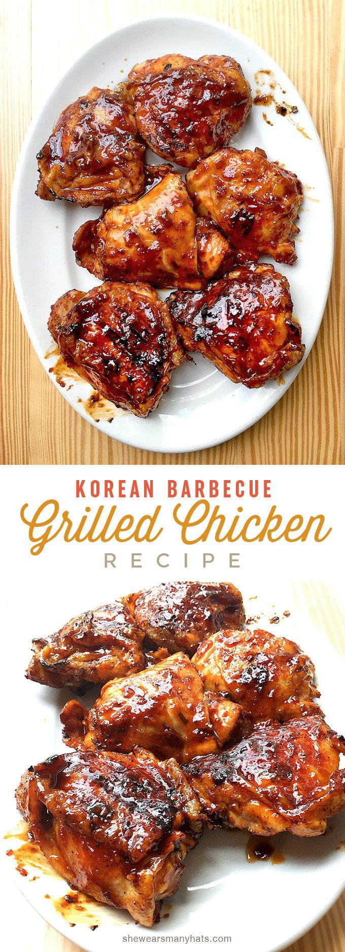 Korean BBQ Chicken Recipe | shewearsmanyhats.com