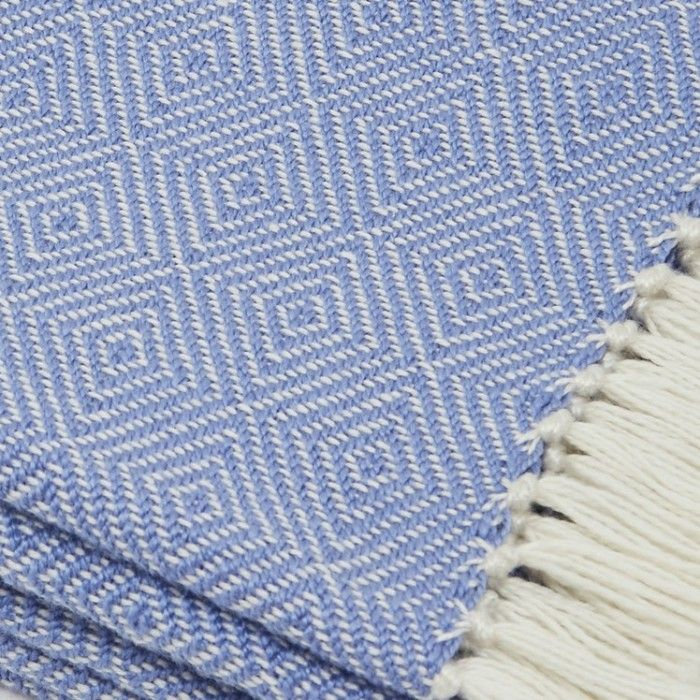 Diamond Cobalt Blue Recycled Blanket