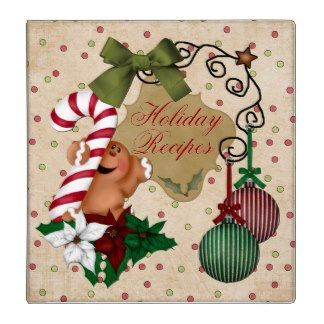 Gingerbread holiday baking recipe book binder