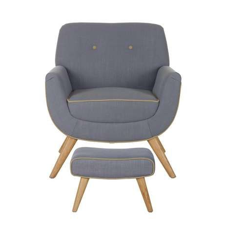 Skandi Charcoal Armchair and Footstool Dunelm £249.99 And Duck Egg