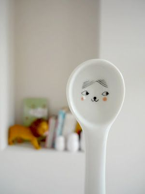 Tribu - white spoon for kids | cutlery. Besteck . couvert | @ muikdesign |