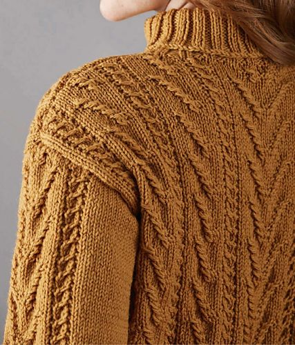 Sarah Hatton loves to bring a modern twist to classic knits, and her smart cabled jumper for women has a fresh, modern look. Its cropped shape is paired with a ribbed rollneck collar and unusual cable patterning. It's knitted in Rowan's Pure Wool Superwash Worsted, which comes in an amazing choice of 62 shades, so you can find your perfect colour! It's easy to care for and good value, too.