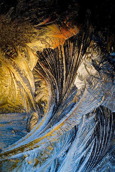 Eisblumen, Eis am Fenster, Winter, Eis, Schnee, Kälte, Eiskristalle - Fotoagentur | Bildagentur Pixelzauber - Fotos, Fotografien und Bilder von Frank Schindelbeck