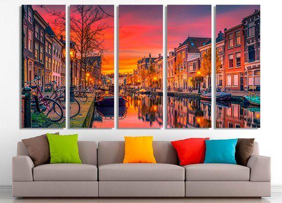 Canvas Wall Art Netherland Canvas Amsterdam Canvas Amsterdam Wall Art City Canvas Canvas Netherland Photo Netherland Poster Amsterdam Photo Exviver Cities Canvas Amsterdam Photos Canvas Wall Art