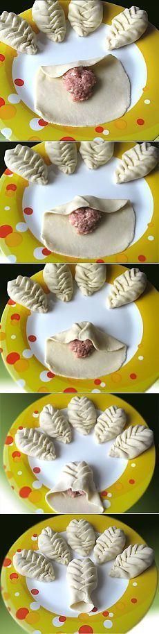 Пеленаем пельмени, манты, пирожки. Мастер-класс в картинках
