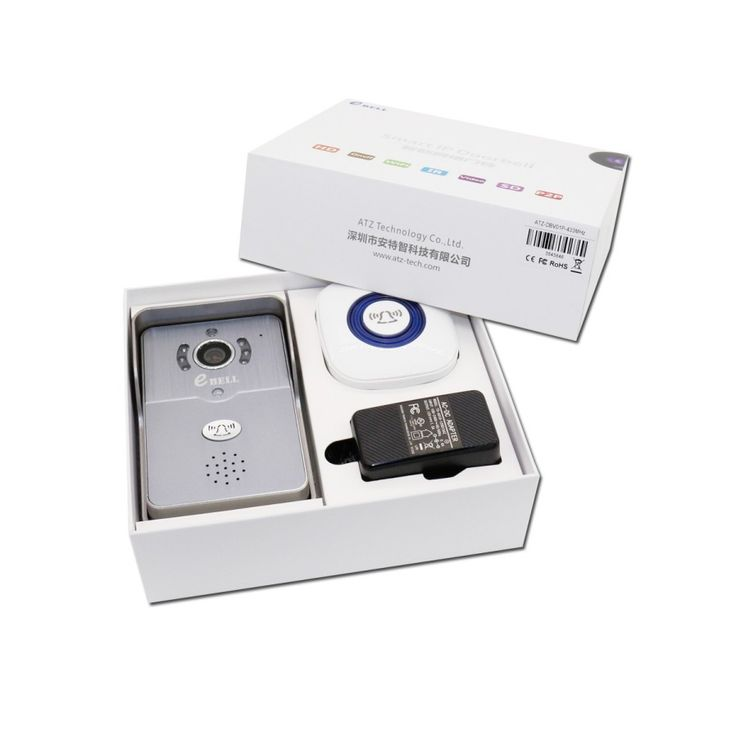 eBELL HD Wireless Video Doorbell Camera w/ Indoor Chime - Grey + White - Free Shipping - DealExtreme