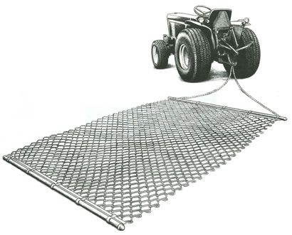 """drag riding ring -Use 9-gauge chain link and make a rectangle 5 feet by 10 feet and attach to 5' long x 1-5/8"""" diameter pipe (1/8"""" wall thickness) in front with a 5' long x 1-3/8"""" diameter"""