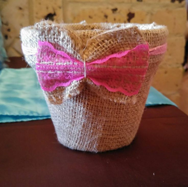 Re Create an old Terracotta Pot with Fabric....