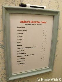At Home With K: Kids Job Charts