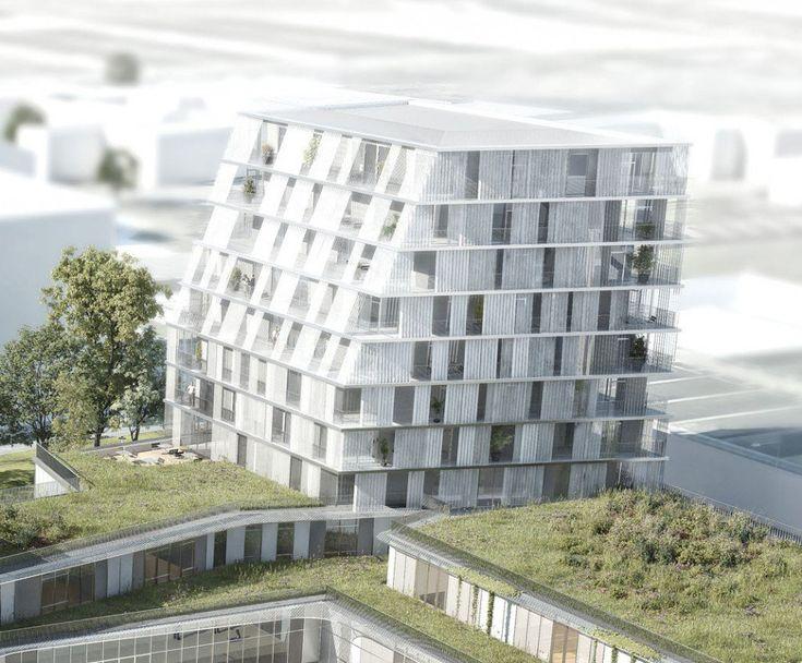 Galería de Propuesta Ganadora para Colegio y Residencia Estudiantil / Chartier Dalix Architectes - 4