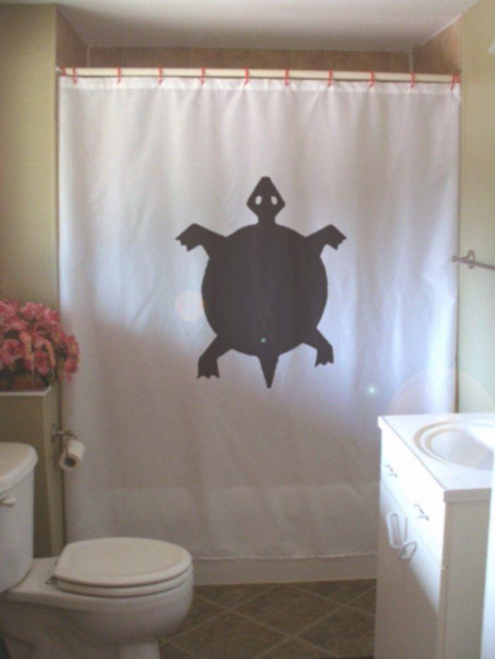 Turtle Shower Curtain Native Rock Art Half Shell Design Water