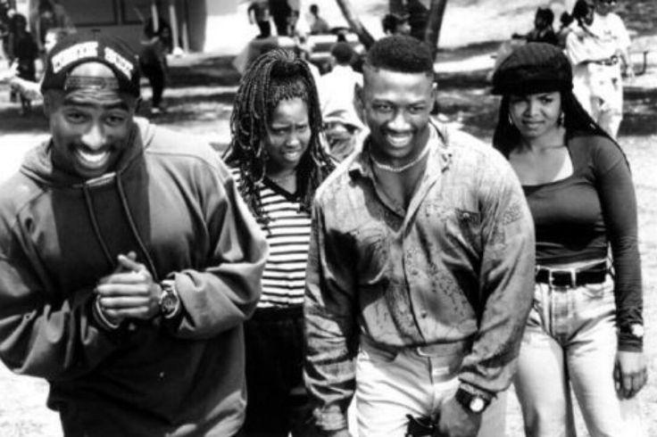"Tupac Shakur, Regina King, Joe Torry and Janet Jackson ""Poetic Justice"", 1993"