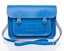 Zatchels Pastel Cornflower Blue Leather Satchel