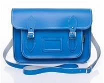 Zatchels Cornflower Blue Leather Satchel