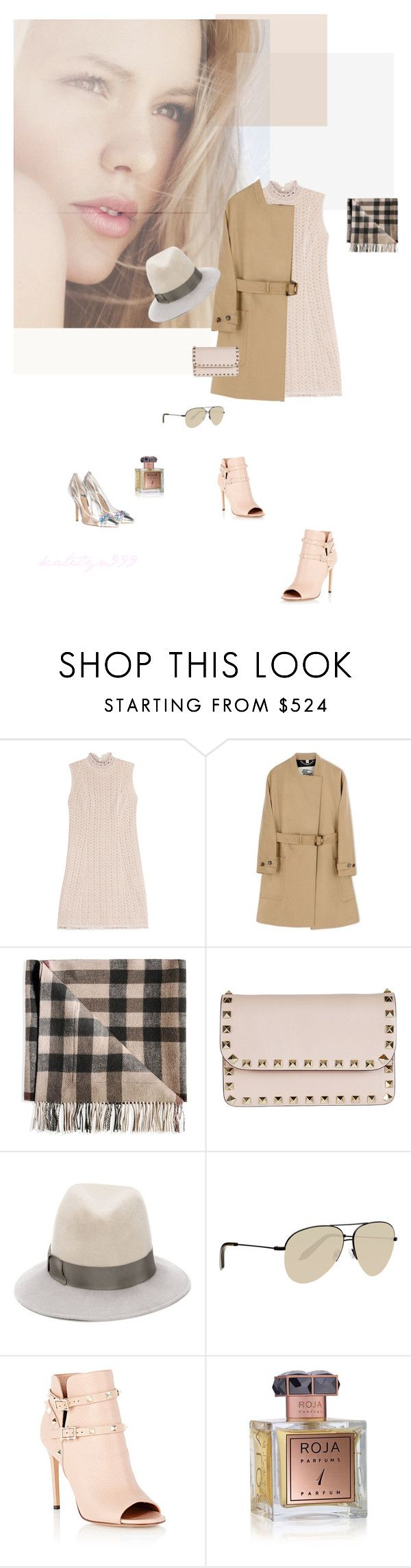 """""""Love is the answer to everything..."""" by katelyn999 ❤ liked on Polyvore featuring Missoni, Burberry, Valentino, House of Lafayette, Victoria Beckham, Roja Parfums, chic, personalstyle and fall2015"""